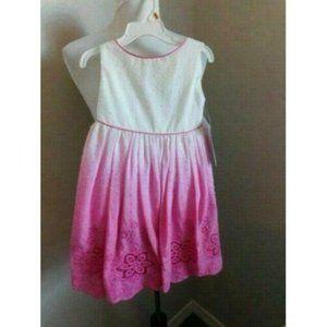 Kids Dream Size 3-4 Girls Tye Dye Eyelet Dress NWT